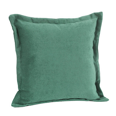 Aqua Glitz Flange Pillow