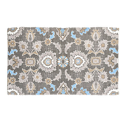 Chatham Blue and Gray Floral Scatter Rug