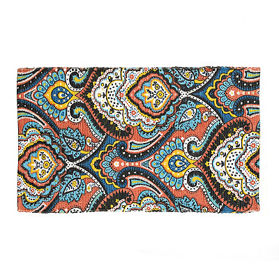 Chatham Coral and Blue Paisley Scatter Rug