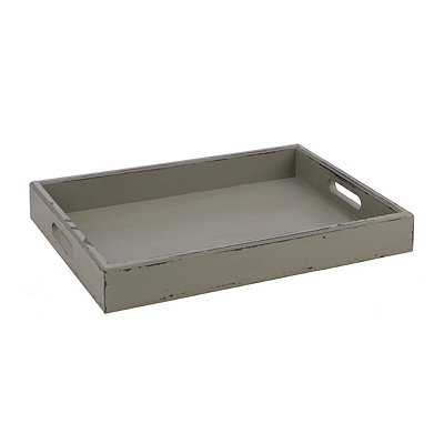 Rustic Gray Distressed Wood Tray