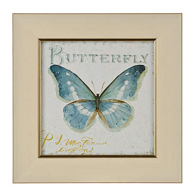 Jeweled Butterfly Stamp I Framed Art Print