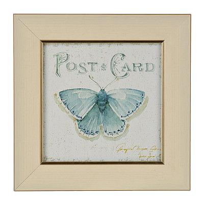 Jeweled Butterfly Stamp II Framed Art Print
