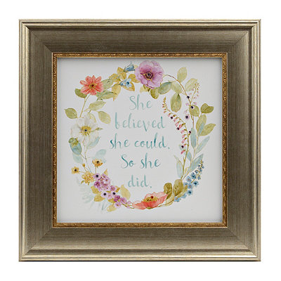 Jeweled Floral Sentiment I Framed Art Print