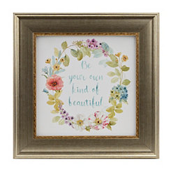 Jeweled Floral Sentiment II Framed Art Print