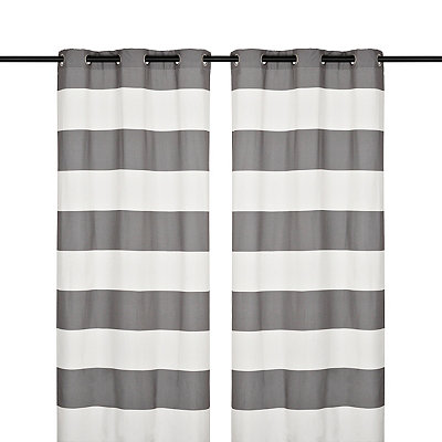 Surfside Black Pearl Curtain Panel Set, 84 in.
