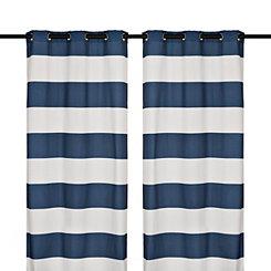 Surfside Navy Curtain Panel Set, 84 in.