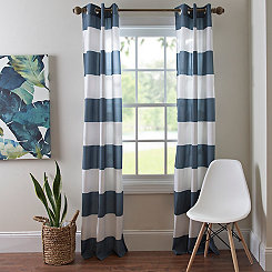 Surfside Navy Curtain Panel Set, 84 in.