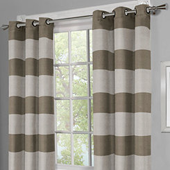 Surfside Taupe Curtain Panel Set, 84 in.