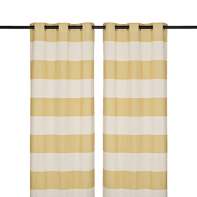 Surfside Yellow Curtain Panel Set, 84 in.