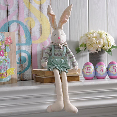Canvas Bunny Boy Shelf Sitter