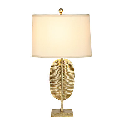 Gold Palm Leaf Table Lamp