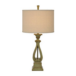 Avignon Green Cutout Table Lamp