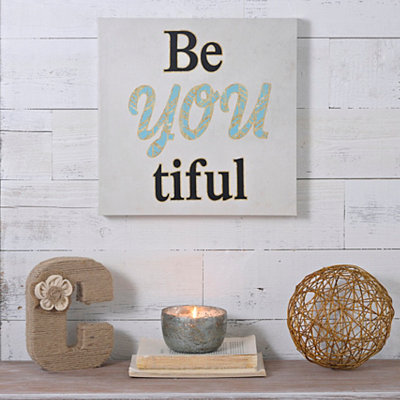 Be You Tiful Canvas Art Print