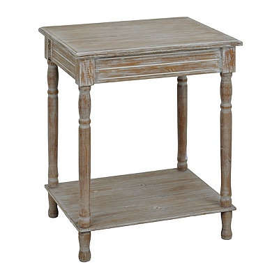 Weathered Ash Accent Table