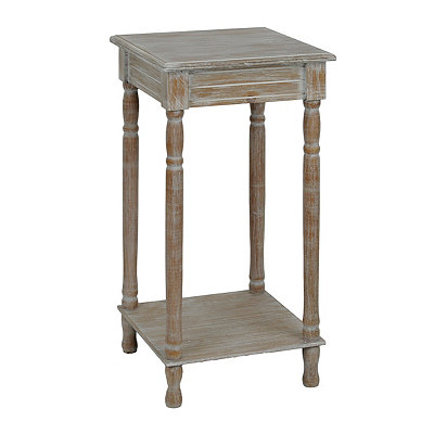 Weathered Ash Square Accent Table