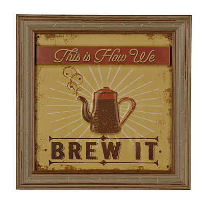 How We Brew It Framed Art Print