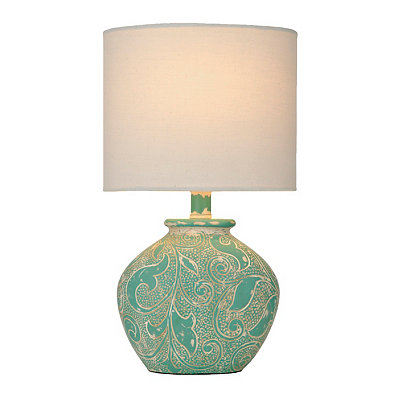 Luna Turquoise Carved Table Lamp