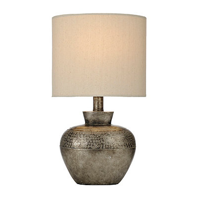 Luna Hammered Gunmetal Table Lamp