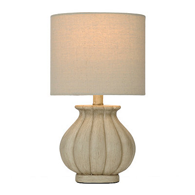 Luna Cream Ribbed Table Lamp