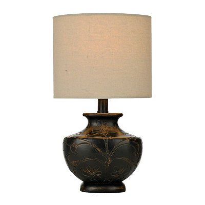 Luna Black Carved Table Lamp
