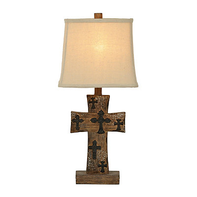 Rustic Cross Table Lamp