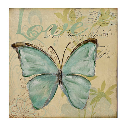 Butterfly Love Canvas Art Print