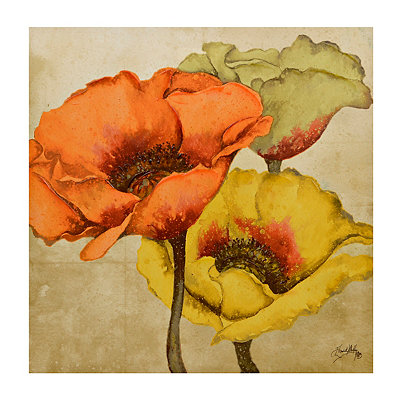 Poppy Trio Canvas Art Print