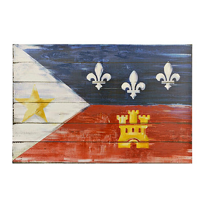 Distressed Cajun Flag Canvas Art Print, 35.5x23.75