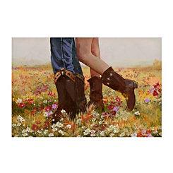 Cowboy Boot Couple Canvas Art Print
