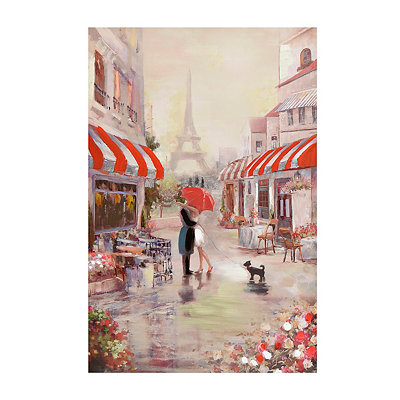 Couple in Paris Canvas Art Print