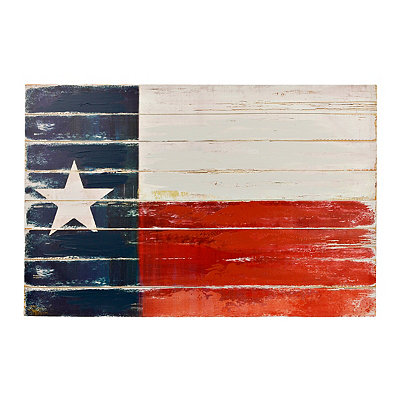 Distressed Texas Flag Canvas Art Print, 35.5x23.75