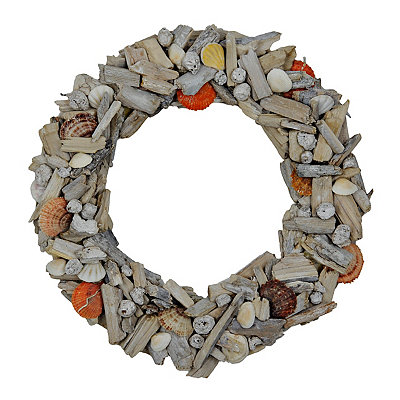 Shell and Driftwood Wreath