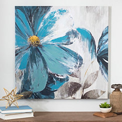 Blue Florals I Canvas Art Print