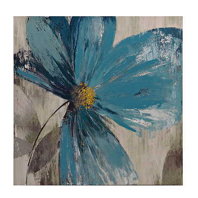 Blue Florals II Canvas Art Print