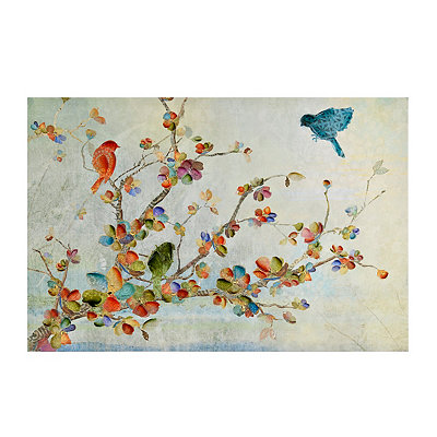 Birds and Branches Canvas Art Print