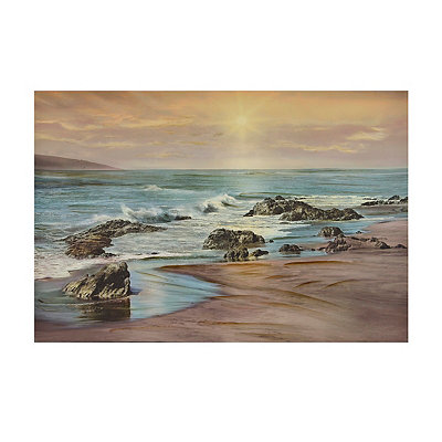 Coastal Sand and Shore Canvas Art Print