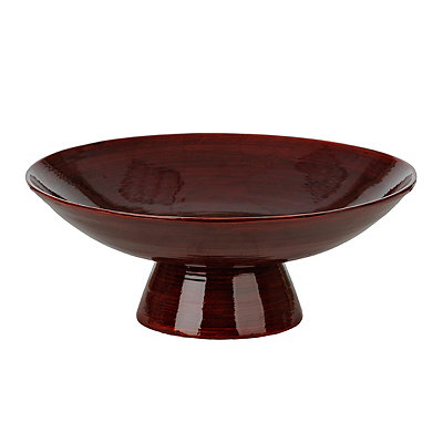 Glossy Red Bamboo Bowl