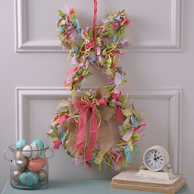 Fabric Easter Bunny Wreath