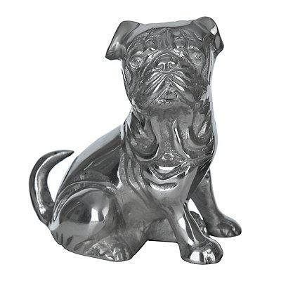 Silver Pug Figurine