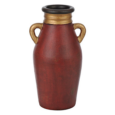 Red and Gold Terra Vase