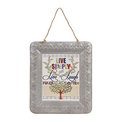 Live Simply Galvanized Framed Art Print