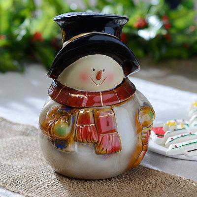 Glazed Snowman Cookie Jar
