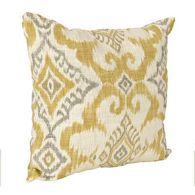 Yellow Kantha Pillow