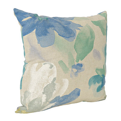 Blue Floral Mantra Pillow