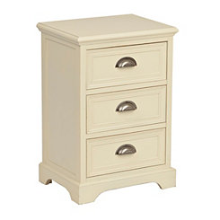 Ivory Farmhouse 3-Drawer Cabinet