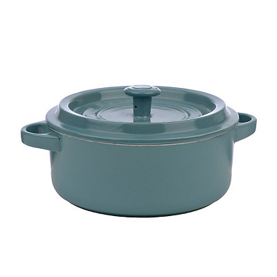 Turquoise Ceramic Dutch Oven, 2.25 qt