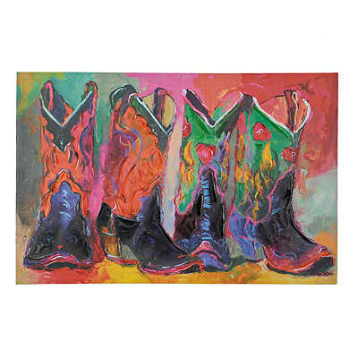 Colorful Boots Canvas Art Print