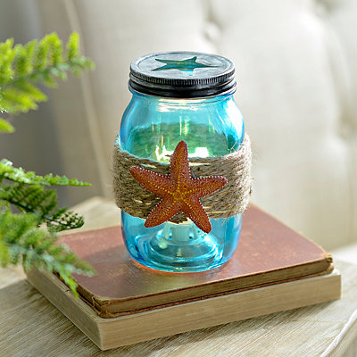 Starfish Mason Jar Night Light