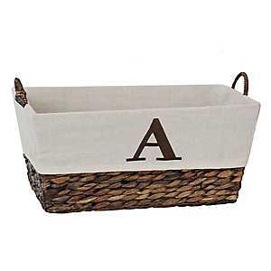 Woven Rattan Monogram A Basket