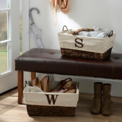 Woven Rattan Monogram Baskets